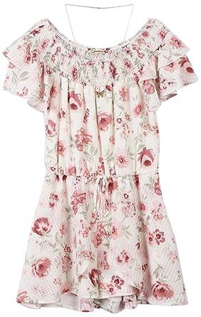9bda38ef0d5 Amazon.com  Speechless Girls  Big Smocked Neck Romper  Clothing