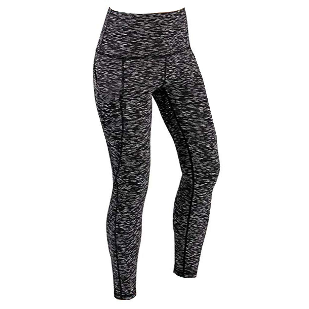 GIOKFEND Women Workout Out Pocket Leggings Fitness Sports Gym Running Yoga Athletic Pants (XL, Black)