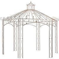 vidaXL Garden Pavilion Outdoor Rose Climber Gazebo Porch Backyard Arch Patio Terrace Canopy Antique Vintage Design Brown…