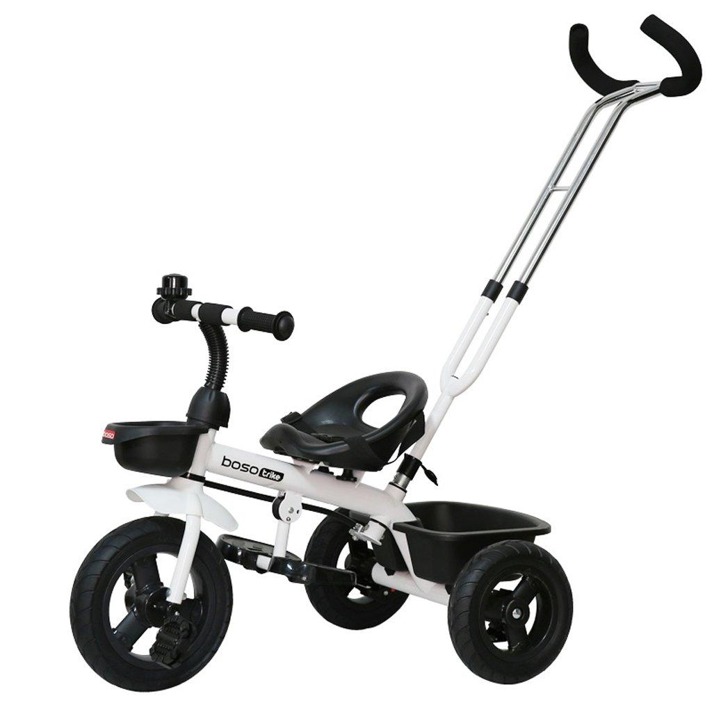 子供の三輪車バイク1-6赤ちゃんバイク赤ちゃんのトロリー、オレンジ、白、シアン、76 * 45 * 90cm ( Color : White ) B07C7VCXYR
