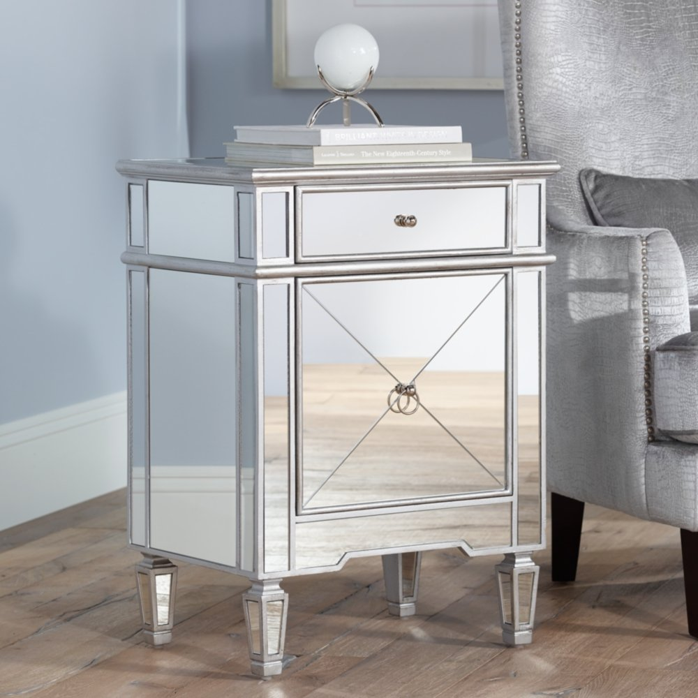Amazon.com: Mackenzie 21 1/2u0026quot; Wide Mirror Accent Table: Kitchen U0026  Dining