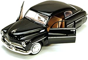 1949 Mercury Eight Coupe, Black - Motormax 73225 - 1/24 Scale Diecast Model Toy Car