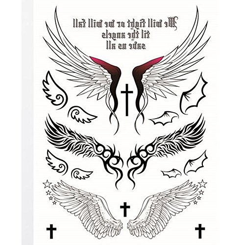 Temporary Tattoos Wings (Yeeech Temporary Tattoos Sticker Angel Design Wings Cross Sexy Products for Women Waterproof)