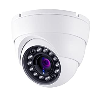 HDView CCTV Cameras 2.4MP 4-in-1 (TVI/AHD/CVI/960H) 2.8mm Wide Angle Lens, 1080P Outdoor/Indoor Dome Camera IR Night Vision Waterproof for Home Security Video Surveillance Camera