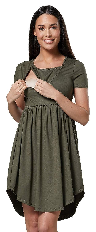 Para Mujer Premama Vestido Manga Corta Bolsillos Laterales.102p HAPPY MAMA