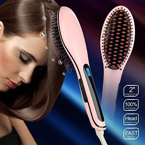 tradeshoptraesio® - Placa eléctrica iónico LCD SNODA Lisa Cabello Cepillo Temperatura HQT-906: Amazon.es: Belleza