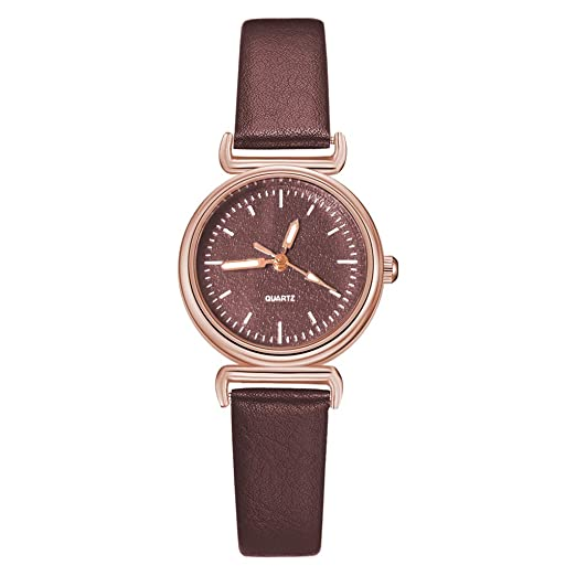 Reloj Mujer Banda Cuero Cuarzo Watches Mujer Casual Vintage ...