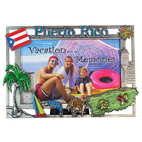 Picture Frame Puerto Rico Souvenir and Gift Pewter Picture Frame 4