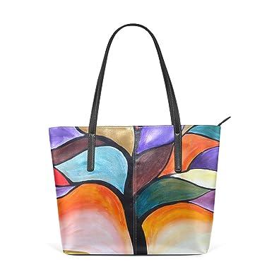 Amazon.com: bolsa Bolsos de Mano, deyya arco iris arte ...