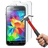 Samsung Galaxy S5 Mini Panzerglas Kapoo Gehärtetem Glas Schutzfolie Hartglas Schutzglas 9H 0,26mm Glas Panzersglas Schutzfolie für Samsung Galaxy S5 Mini [2 Stück]-1 Jahr Garantie