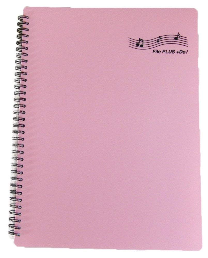 Black 2 per set FILE PLUS DO Music Sheet holder US LETTER//A4 30 pockets 60 pages No need to take out paper for writing in