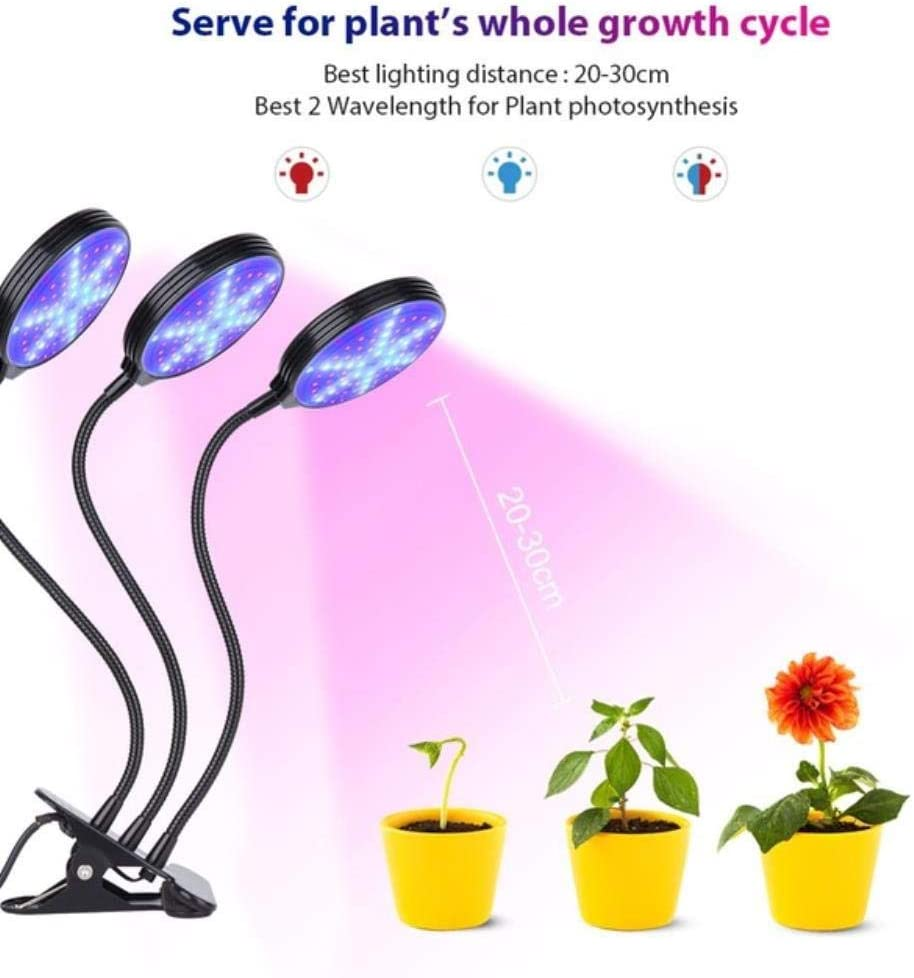 Miwaimao Plant Grow Light Led Grow Light 9w 18w 27w Timer Phyto Lamp Plants Full Spectrum Grow Lamp Usb 10 Dimmable For Indoor Plant Seedlings 3 Round 15w Amazon Co Uk Garden Outdoors