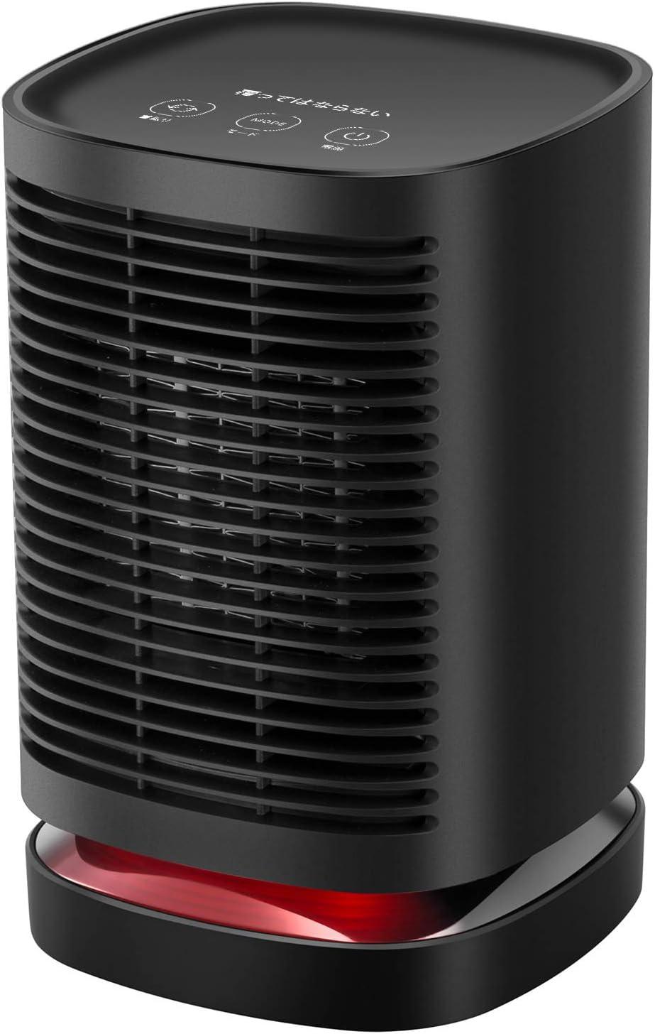 COMLIFE Calefactor Eléctrico Cerámico PTC 950W Oscilación Automática de 90 ° y 2 Potencias Protección contra Incendio Uso Personal en Oficina y Hogar