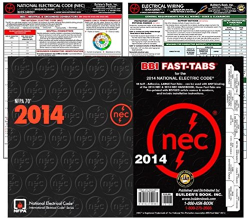 NFPA 70 2014: National Electrical Code, NEC, Paperback, NEC Fast Tabs, NEC Quick Card and Electrical Wiring Quick Card, 2014 Edition by NEC14