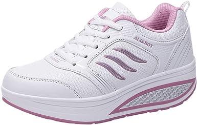 Elecenty Zapatos de Cordones para Mujer, Zapatos de Running para Mujer Calzado Deportivo al Aire Libre Aumentar Dentro Zapatillas Casual Sandalias Sneakers: Amazon.es: Ropa y accesorios