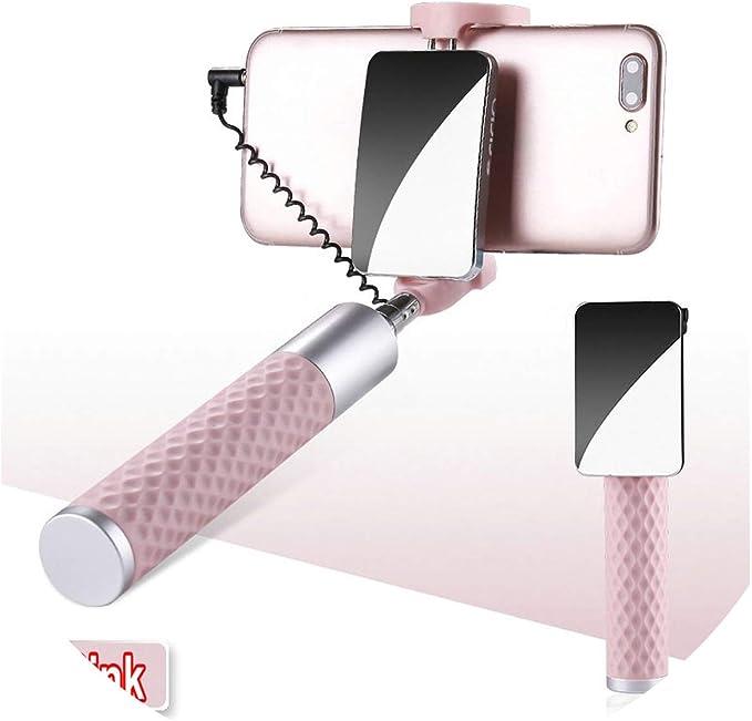 Palo Selfie con Espejo Grande de 3,5 mm, Universal, Plegable, para ...