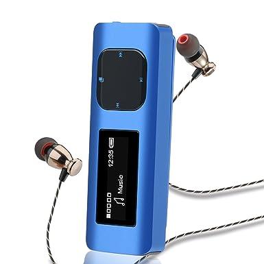 wiwoo U2 16 GB Reproductor de MP3 portátil con Clip para ...