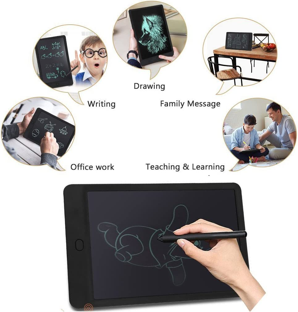 4.4//Blue Mini LCD Drawing Tablet Electronic Graphic Board for Kids,AMZSTAR 4.4-Inch Lock Electronic Writing Tablet Paperless Handwriting Notepad,for Kids Adults at Home Office Christmas Gift