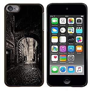 Planetar® ( Calle Vieja Ciudad Medieval ) Apple iPod Touch 6 6th Touch6 Fundas Cover Cubre Hard Case Cover