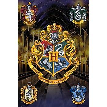 Harry Potter   Movie Poster / Print (House Crests   Hogwarts, Gryffindor,  Slytherin