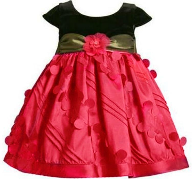 0b4c6b37c0e4 Amazon.com  Bonnie Jean Little Girls  Holiday Dress - Red Black ...