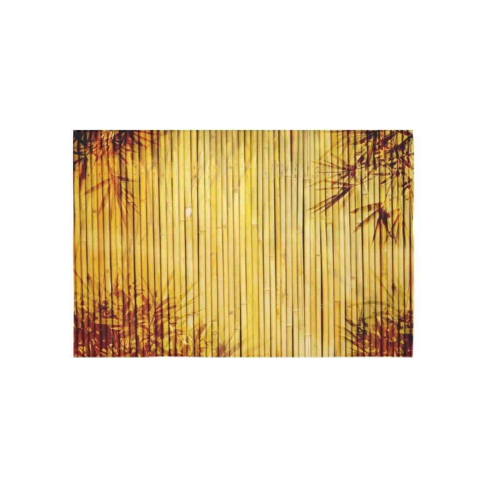 Amazon.com: InterestPrint Nature Wood Wall Art Home Decor, Bamboo ...