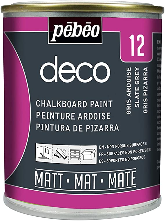 Pebeo - Pintura de Pizarra (250 ml), Color Gris Oscuro: Amazon.es: Hogar