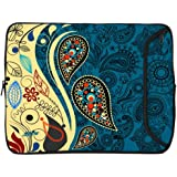 Designer Sleeves Paisley Fashion Sleeve for 13-Inch Laptop, Blue (13DS-PF)