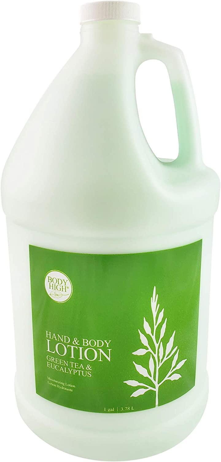 Body High TOA Green Tea & Eucalyptus Massage Lotion 1 Gallon Bottle : Sports & Outdoors