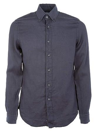 001d5c1e05 ASPESI Camicia Uomo CE14C19585178 Lino Blu: Amazon.it: Abbigliamento