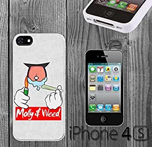 Weed Molly Hipster Quote Custom made Case/Cover/Skin FOR iPhone 4/4s -White- Rubber Case (Ship From CA) by runtopwell