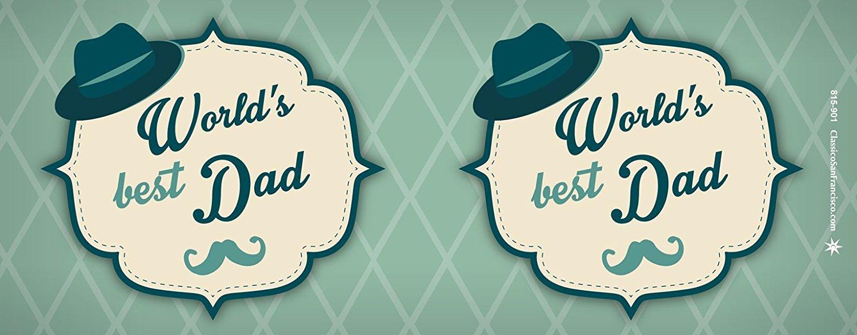 Mug Culturenik 815-901 Worlds Best Dad Parental Humor Quote Decorative Ceramic Gift Coffee 11 Oz Tea, Cocoa