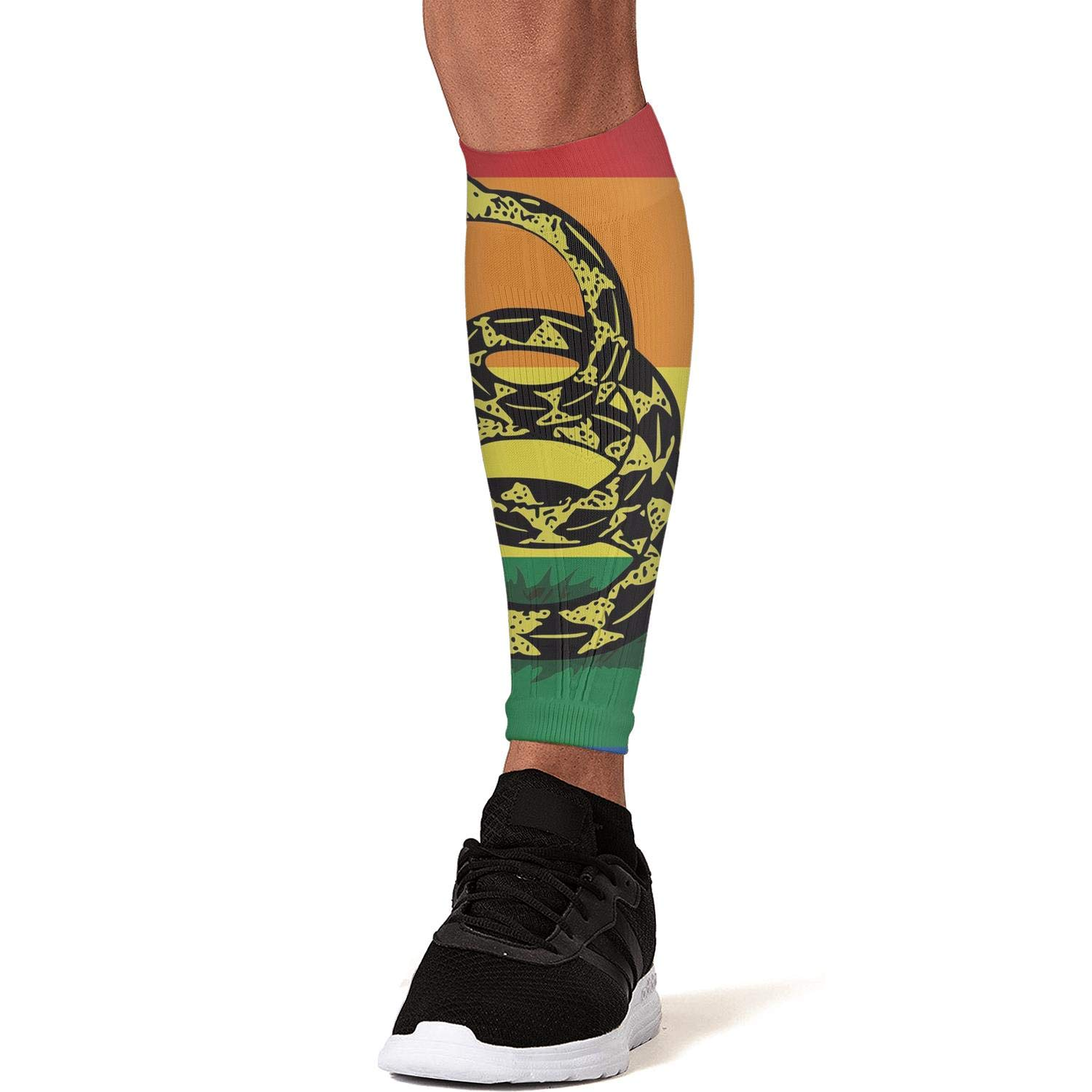 Smilelolly american flag dont tread on me Calf Compression Sleeves Helps Faster Recovery Leg Sleeves for Men Women