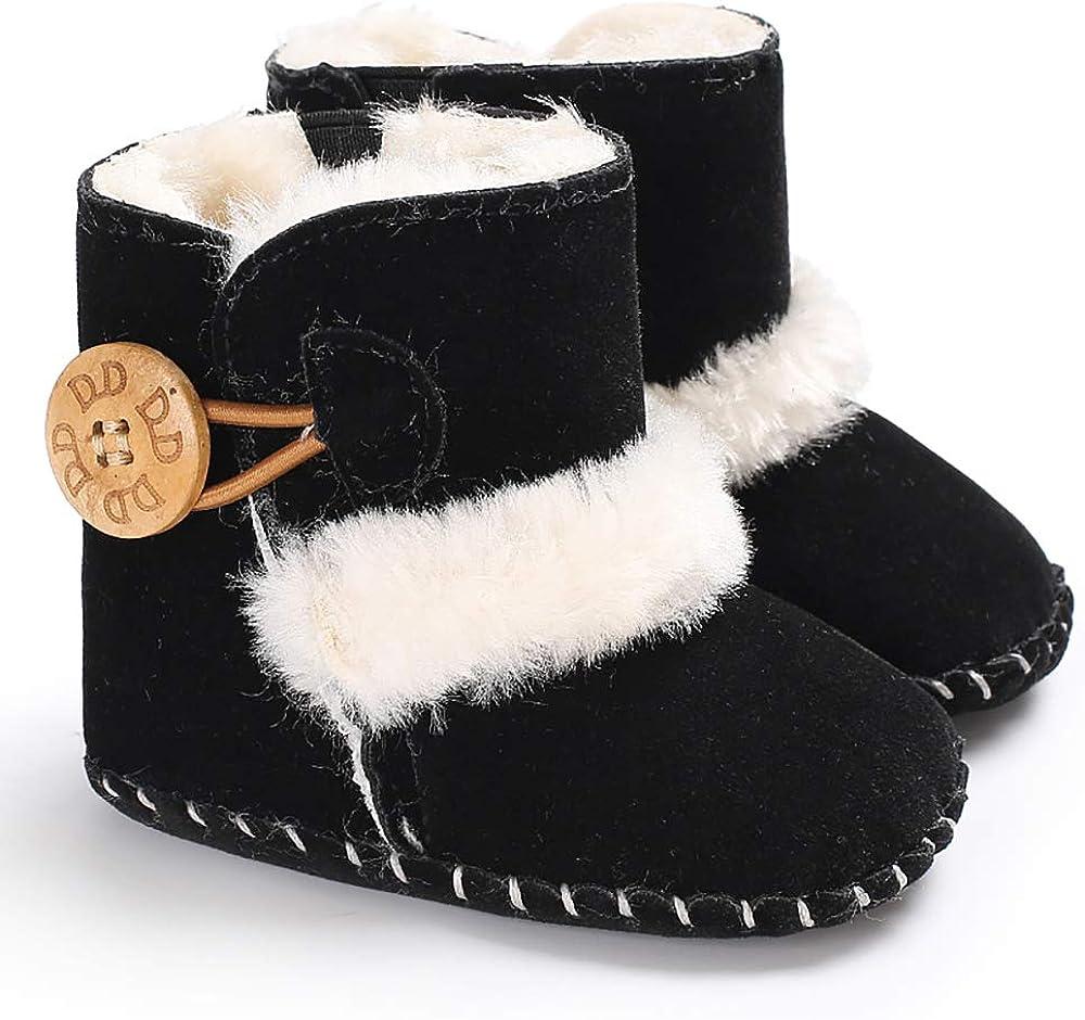 Ollily Winter Warm Baby Boots Prewalker Newborn Infant Boy Girl Crib Shoes Snow Boots