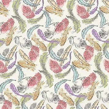 Rasch Barbara Becker Bird Feathers Pastel Motif Pattern Multi Coloured Wallpaper 712988