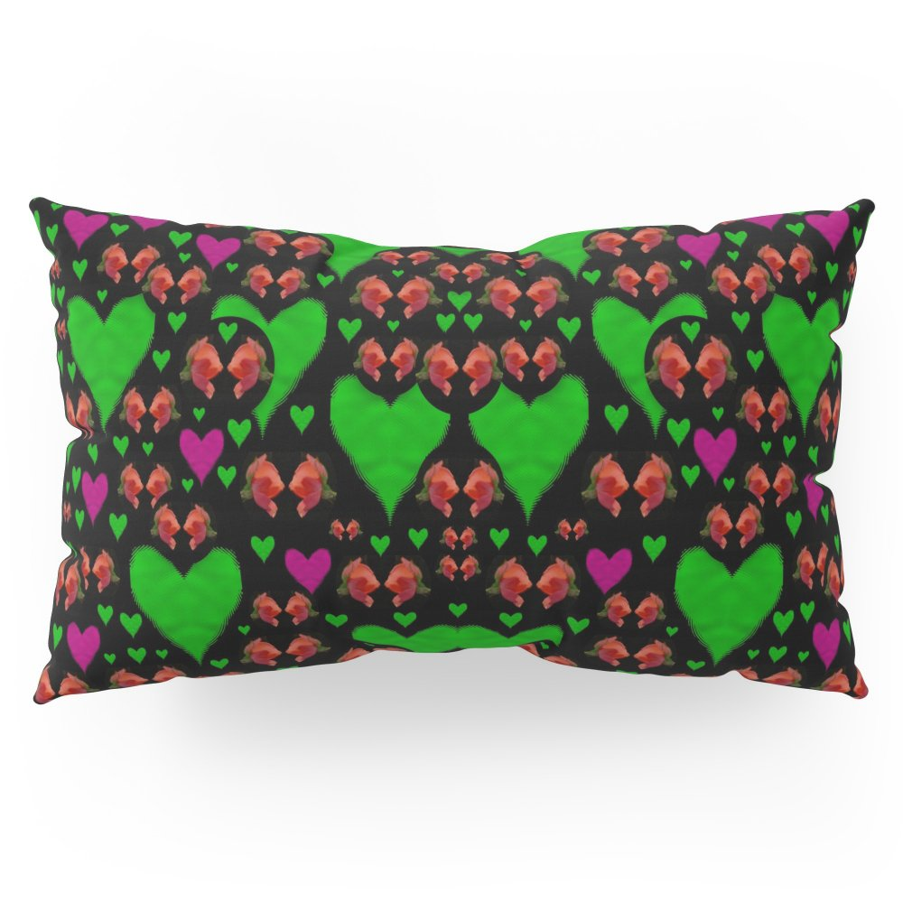 Society6 Love Hearts And Roses Pillow Sham King (20'' x 36'') Set of 2
