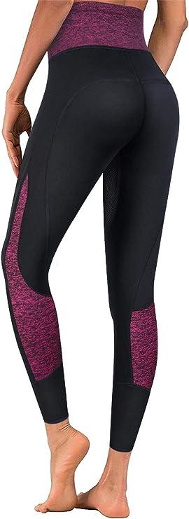 Amazon.com: TrainingGirl High Waist Sauna Sweat Pants Slimming Neoprene Weight Loss Workout Capri Leggings with Zipper Pocket for Women: Clothing