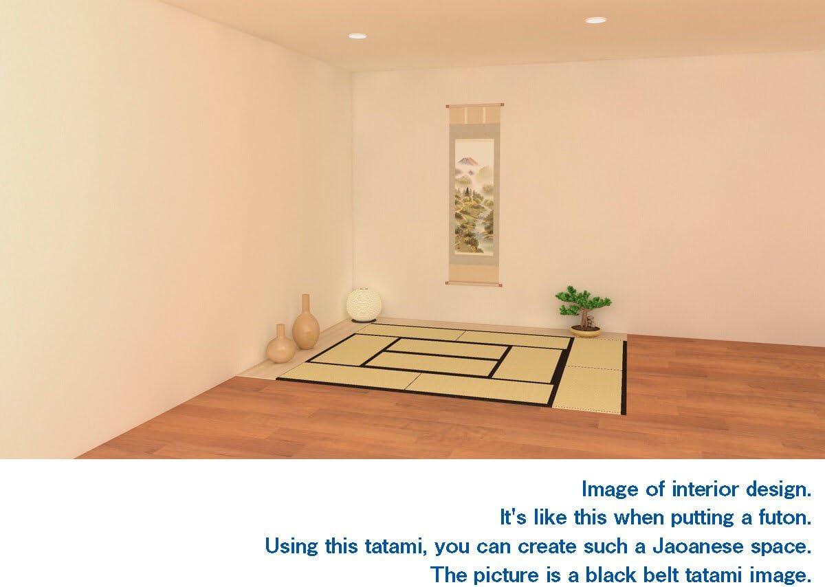 10 TATAM Tatami Mat Japanese Traditional 1//4 Size 17x34 inch Edo-Chrysanthemum Unit Mattress Made in Japan
