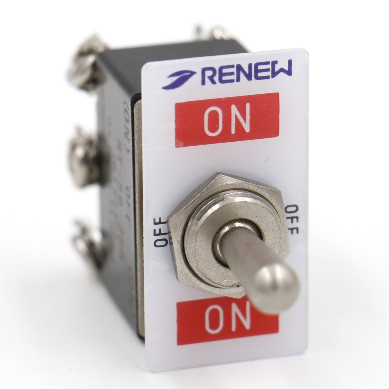 Heschen en m/étal Interrupteur /à bascule Rt223/F DPDT momentan/é On On 3/position 6/A 250/VAC CE //Off//