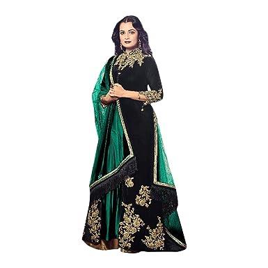Maßanfertigung Designer Samt mit Stickerei Anarkali Salwar Anzug ...