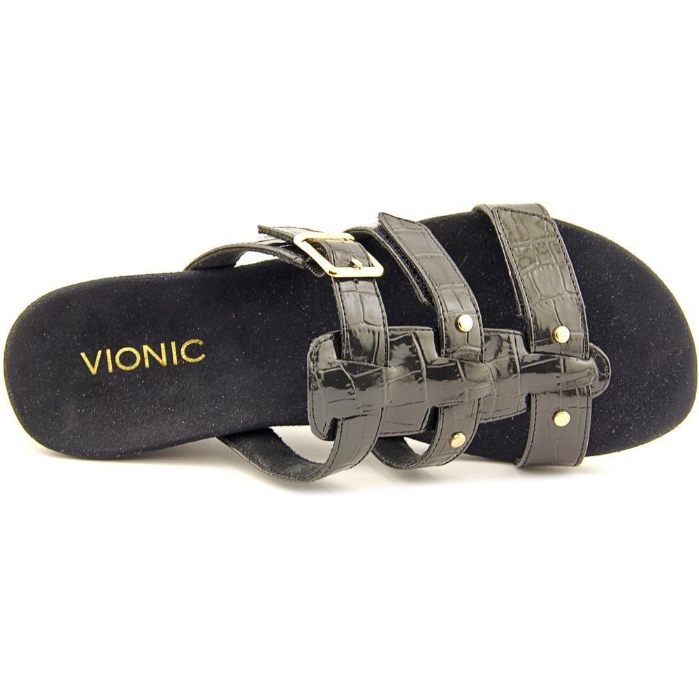 58cc0525d006 Vionic by Orthaheel Park Radia Black Crocodile Wedge Sandal 8W  Amazon.ca   Shoes   Handbags