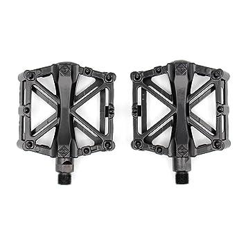 Cutowin - Pedales para Bicicleta de montaña MTB (aleación de Aluminio, con Pedal Ultraligero, Accesorios para Bicicleta BMX), Negro: Amazon.es: Deportes y ...