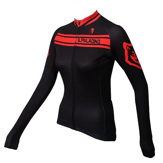 Amazon.com  ILPALADINO Women s Cycling Jersey Long Sleeve Biking Shirts  Breathable Quick Dry  Clothing 4af092336