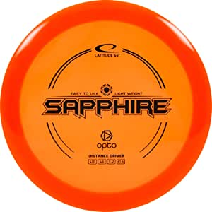D·D DYNAMIC DISCS Latitude 64 Opto Sapphire Beginner Friendly Disc Golf Driver | Easy to Throw Control Distance Driver Frisbee Golf Disc | 160g and Under | Stamp Color May Vary