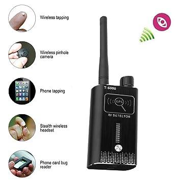 WINNES Detector de cámara Oculta Profesional inalámbrico de Alta sensibilidad Anti espía RF señal Detector de Insectos: Amazon.es: Electrónica