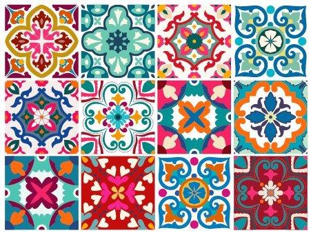 BRIKETO Florencia Decorative Tile Stickers Set 12 Units 6x6 inches. Peel & Stick Vinyl Tiles. Backsplash. Home Decor. Furniture Decor. DIY Product for Home Decoration and Renewal. 3 sqft per Package.