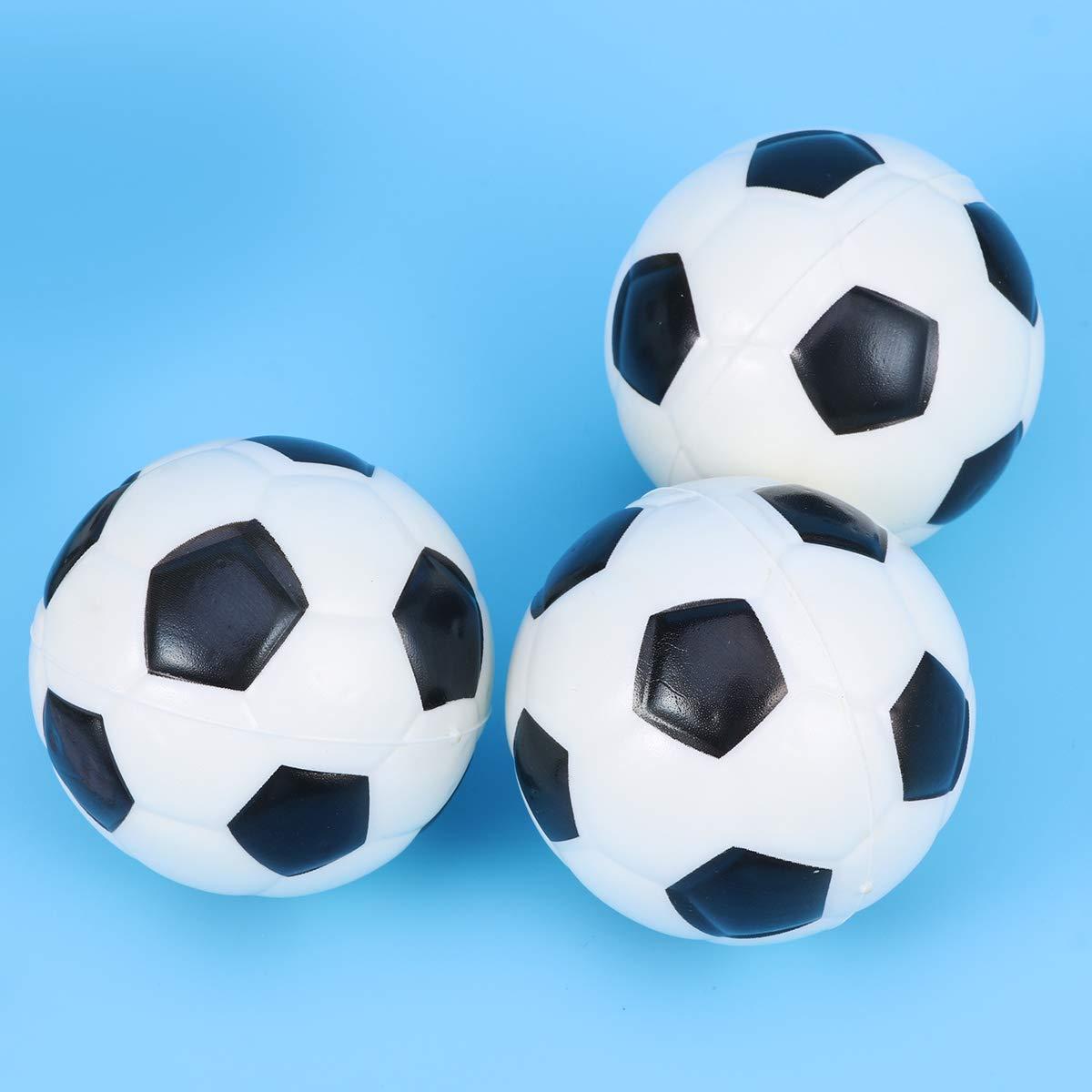 Amosfun 8pcs PU Ballon de Football Mini Soft Sport Sport balles th/ème Jeu de f/ête balles Jouets pour Enfants en Bas /âge