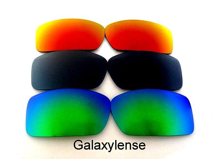 Galaxylense Lentes de reemplazo para Oakley Gascan para hombre o mujer 60x1.5x35 Regular Verde