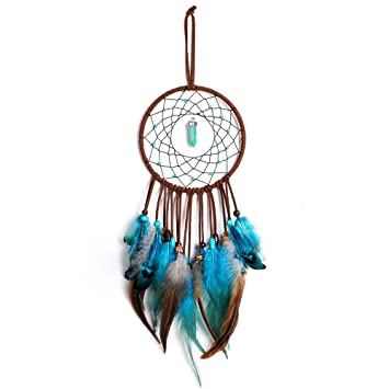Amazon.com: Atrapasueños hecho a mano para colgar plumas de ...