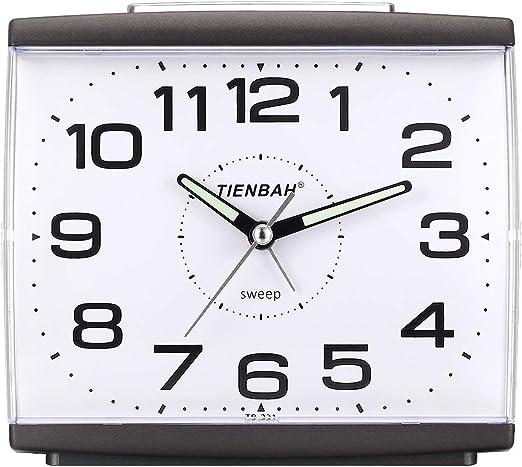 Ayybboo Reloj Despertador Analógico, Despertador Silencio con Luz ...